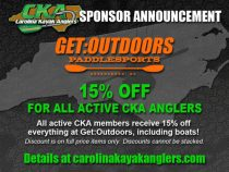 15% discount for CKA anglers at Get:Outdoors!
